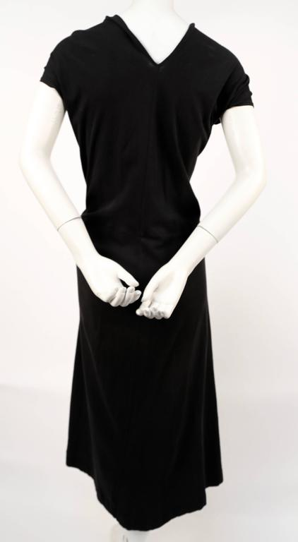 Comme des Garcons black knotted T-shirt dress, 2003  In Good Condition For Sale In San Fransisco, CA