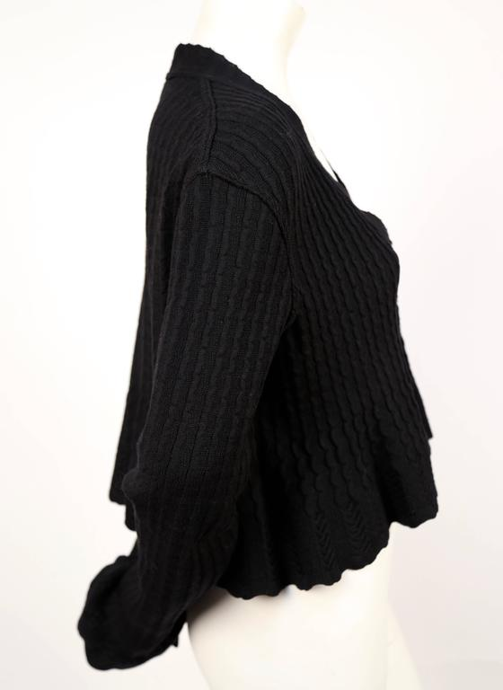 1990's AZZEDINE ALAIA black cropped cardigan sweater 2