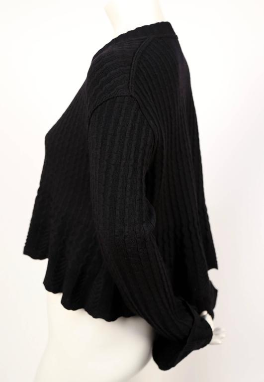 1990's AZZEDINE ALAIA black cropped cardigan sweater 3