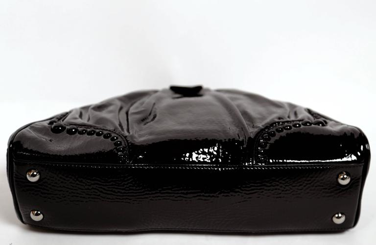 AZZEDINE ALAIA black patent leather clutch with covered studs In New Never_worn Condition For Sale In San Fransisco, CA