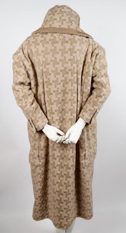 Comme Des Garcons houndstooth wool draped runway coat, 2009  In New Condition For Sale In San Fransisco, CA