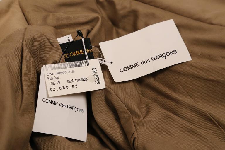 2009 COMME DES GARCONS houndstooth wool draped runway coat - unworn For Sale 1