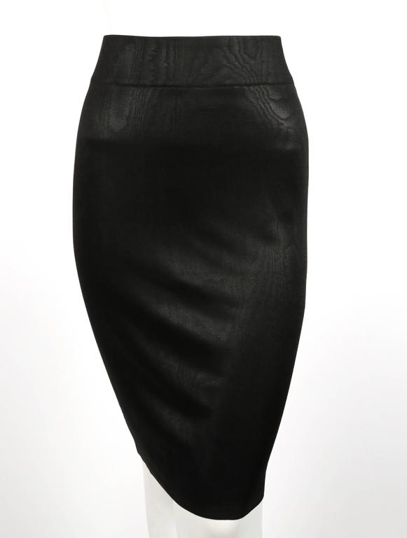 Women's or Men's 1980's AZZEDINE ALAIA black tunic and skirt For Sale