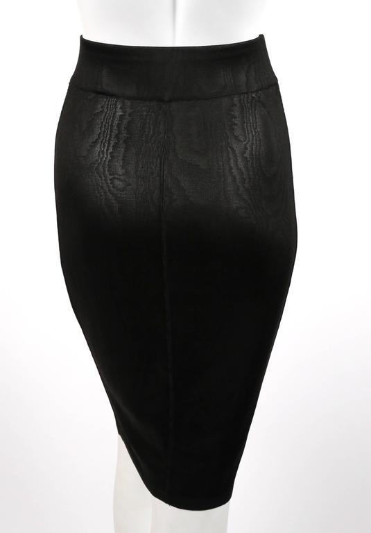 1980's AZZEDINE ALAIA black tunic and skirt For Sale 1
