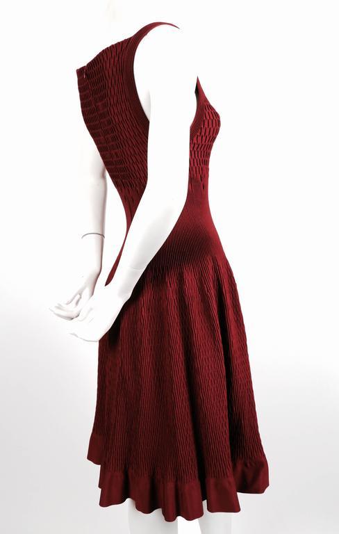 Red unworn AZZEDINE ALAIA bordeaux knit dress For Sale