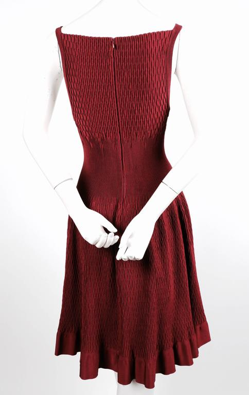 unworn AZZEDINE ALAIA bordeaux knit dress In New Never_worn Condition For Sale In San Fransisco, CA
