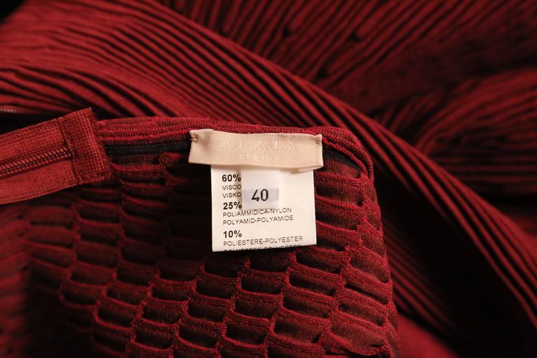 Women's or Men's unworn AZZEDINE ALAIA bordeaux knit dress For Sale