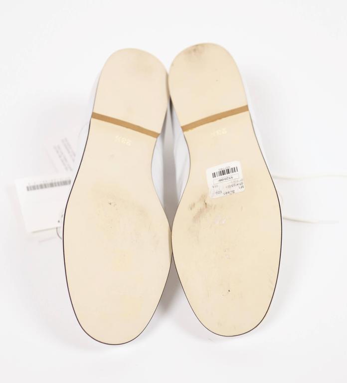 unworn COMME DES GARCONS white patent leather oxford shoes - 7 For Sale 1