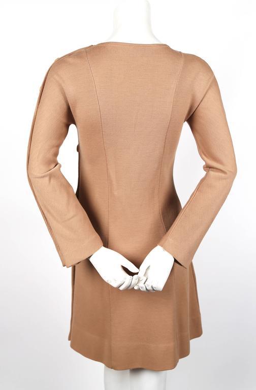 1960 S Rudi Gernreich Tan Dress With Asymmetrically