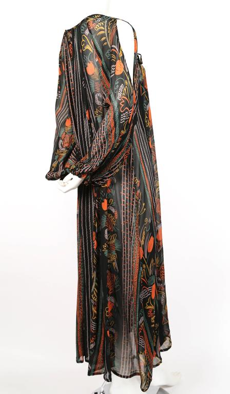 1970's OSSIE CLARK dress with CELIA BIRTWELL print 2