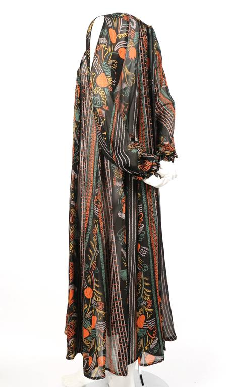 1970's OSSIE CLARK dress with CELIA BIRTWELL print 3