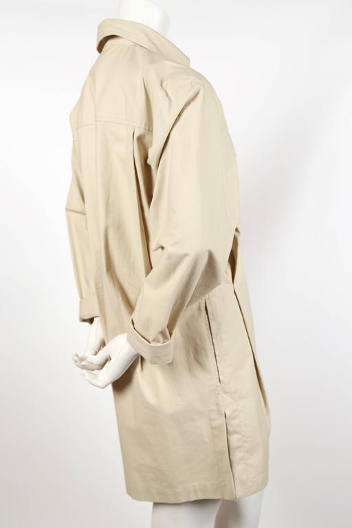 unworn 1980's YVES SAINT LAURENT tan safari tunic dress 3
