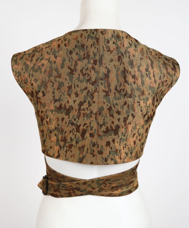 1990's AZZEDINE ALAIA camouflage wrap bustier top 3