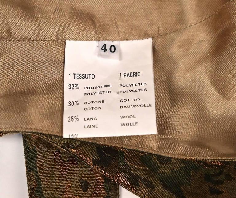 1990's AZZEDINE ALAIA camouflage wrap bustier top 5