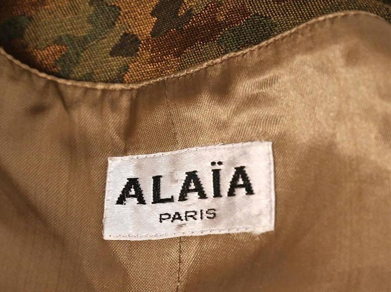 1990's AZZEDINE ALAIA camouflage wrap bustier top 6