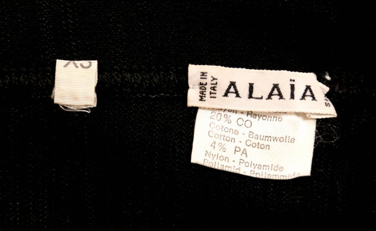 1990's AZZEDINE ALAIA black long dress with bustier seams 7