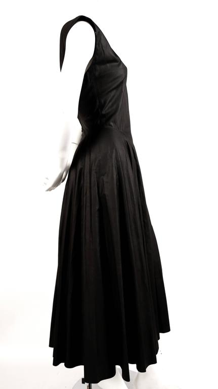 1980's AZZEDINE ALAIA long full skirted black dress with open back 3