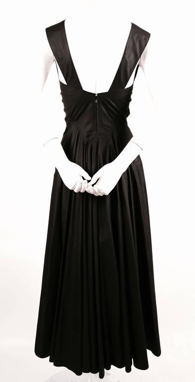 1980's AZZEDINE ALAIA long full skirted black dress with open back 4