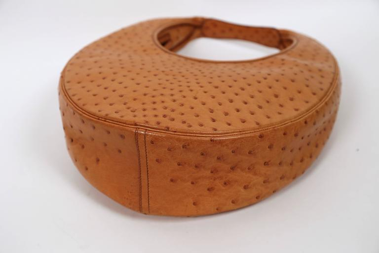 very rare 1989 HERMES ostrich leather circular 'Folies' bag 5