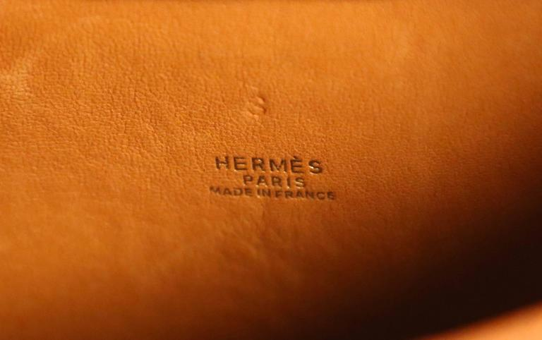 very rare 1989 HERMES ostrich leather circular 'Folies' bag 8