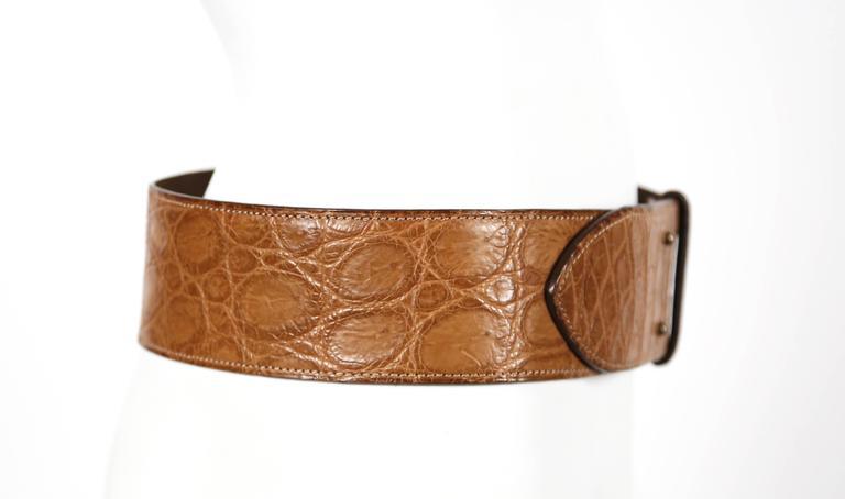 1984 AZZEDINE ALAIA alligator leather belt 2
