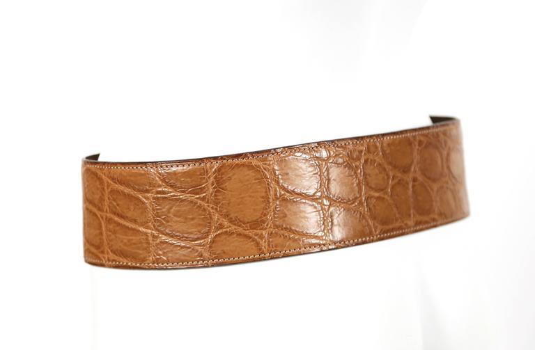 1984 AZZEDINE ALAIA alligator leather belt 3
