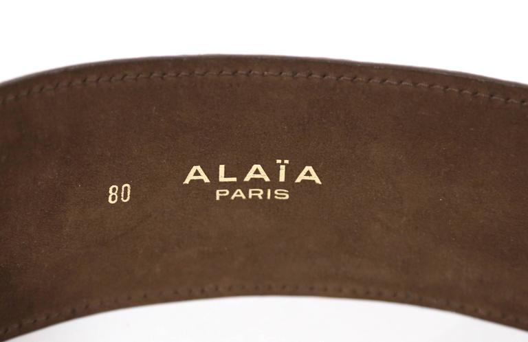 1984 AZZEDINE ALAIA alligator leather belt 5
