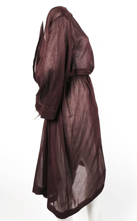 1980's AZZEDINE ALAIA sheer draped dress with cut out 3