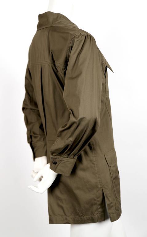 "Iconic YVES SAINT LAURENT ""Saharienne"" khaki tunic safari tunic 2"