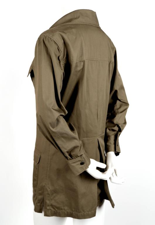"Iconic YVES SAINT LAURENT ""Saharienne"" khaki tunic safari tunic 3"