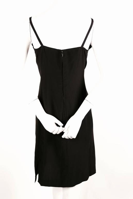 Women's or Men's 1970's KARL LAGERFELD for CHLOE black silk dress with beads For Sale