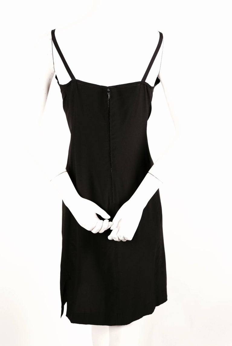 Women's or Men's 1970's KARL LAGERFELD for CHLOE black silk dress with beads For Sale