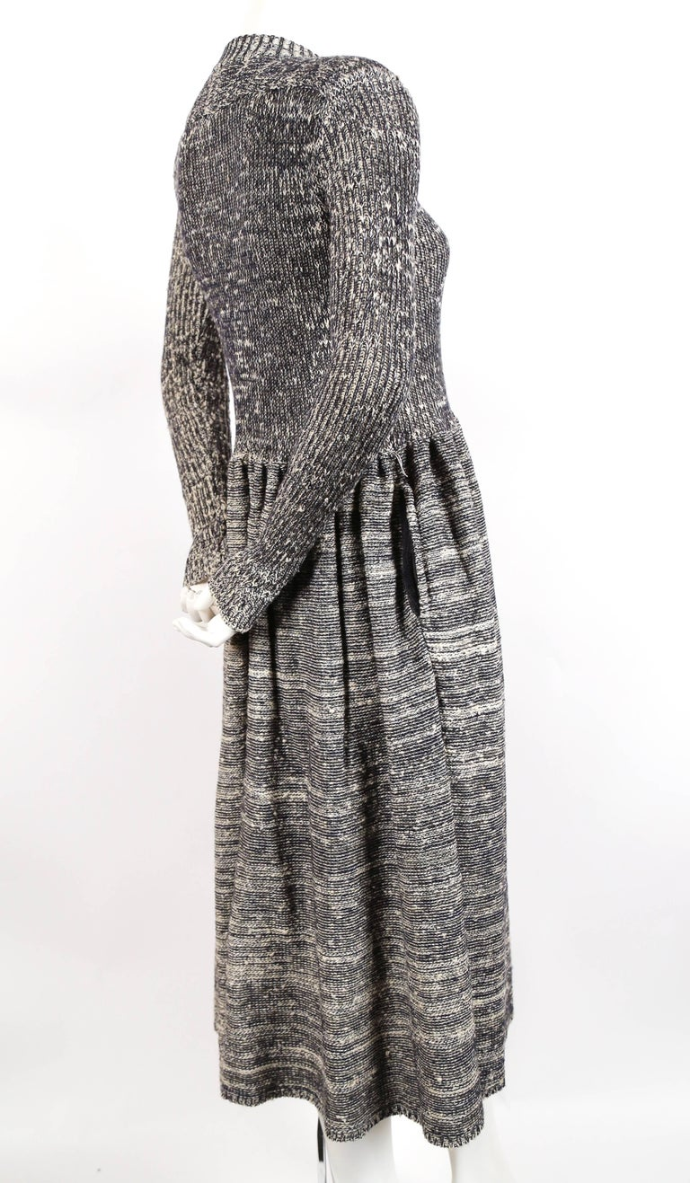 1974 ISSEY MIYAKE documented space dyed knit dress 3