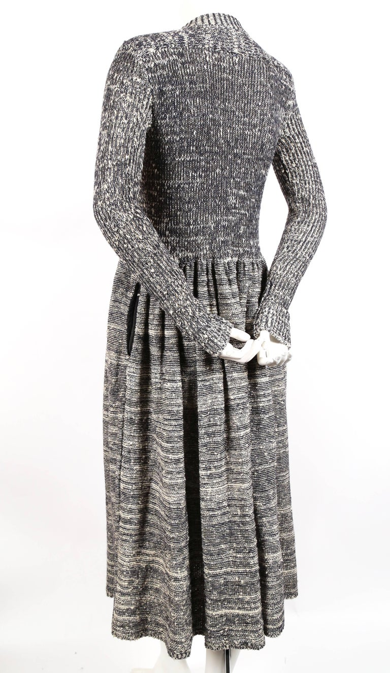 1974 ISSEY MIYAKE documented space dyed knit dress 4