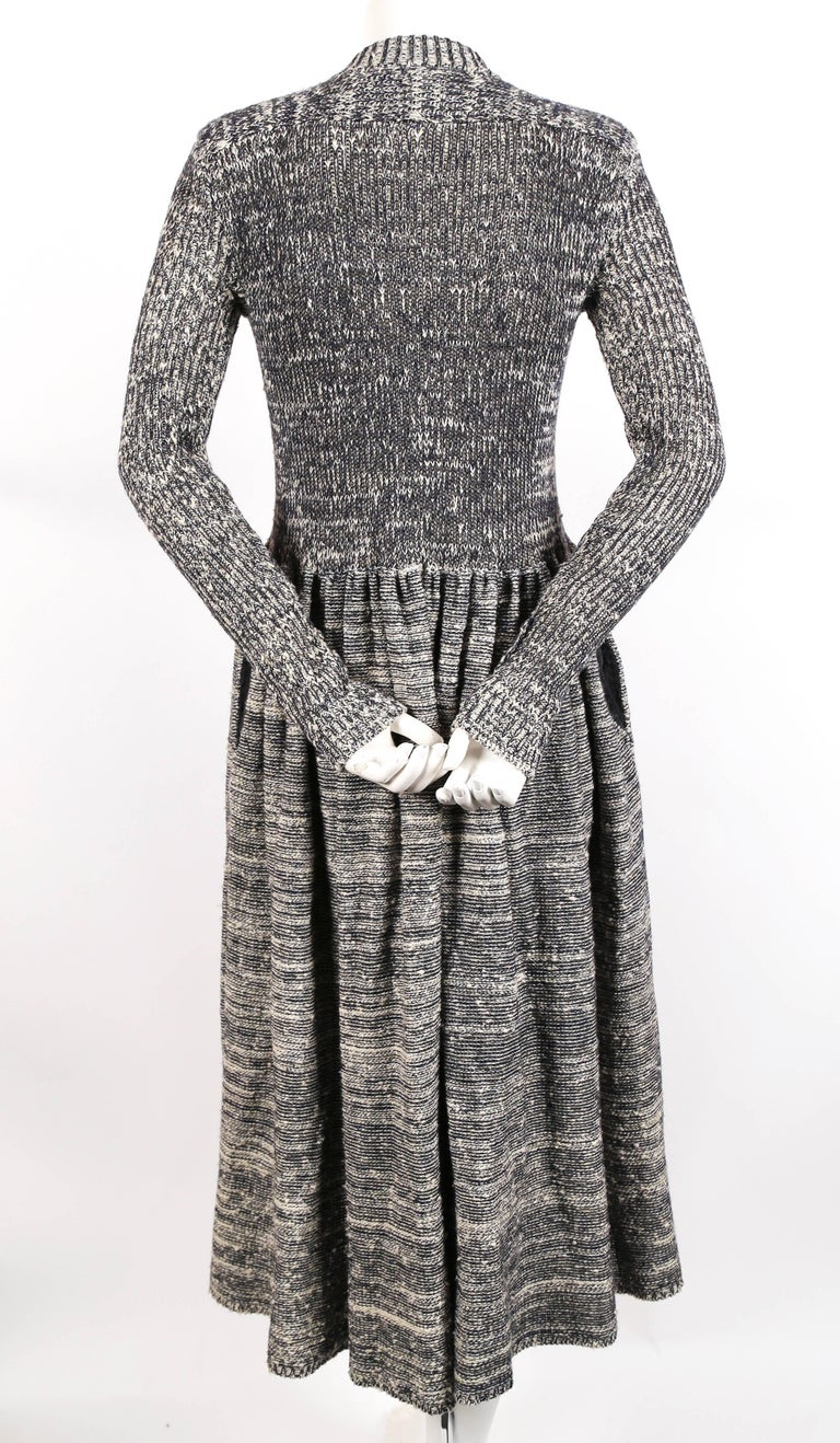 1974 ISSEY MIYAKE documented space dyed knit dress 5
