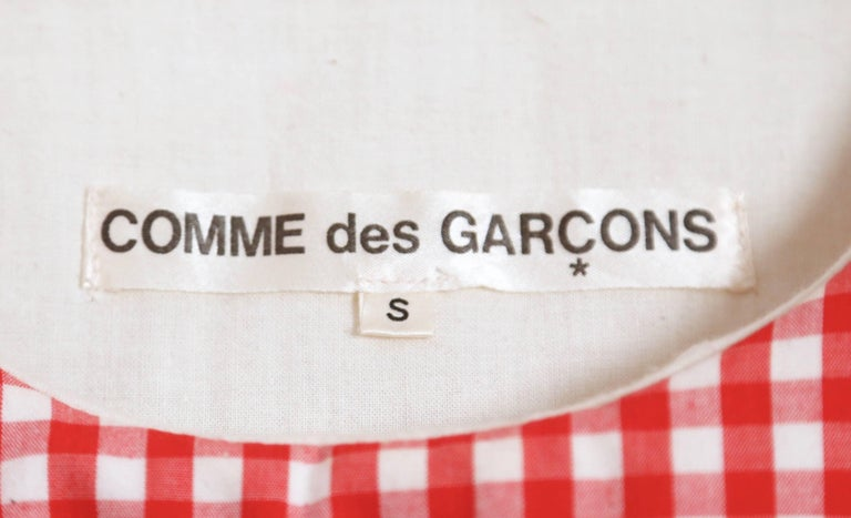 1997 COMME DES GARCONS red gingham padded dress 'BODY MEETS DRESS' For Sale 1