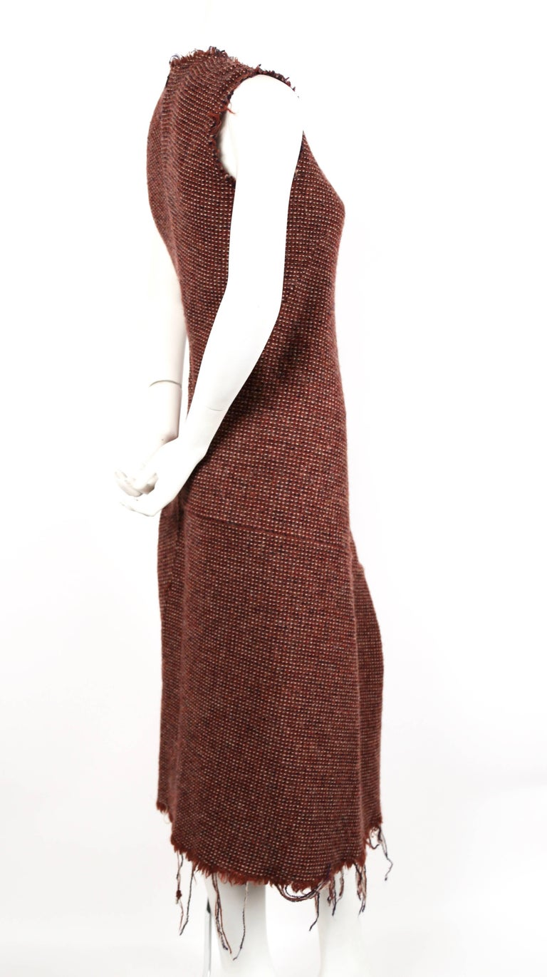 Brown Junya Watanabe Comme des Garcons tweed runway dress, 2003   For Sale