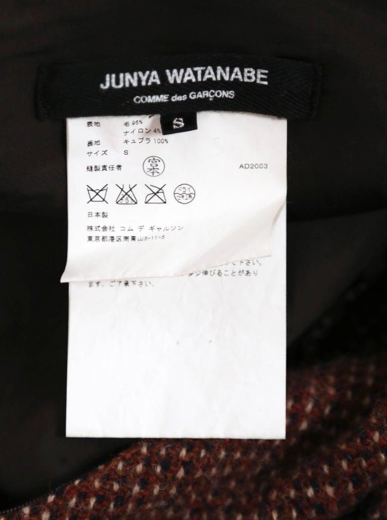 Women's or Men's Junya Watanabe Comme des Garcons tweed runway dress, 2003   For Sale