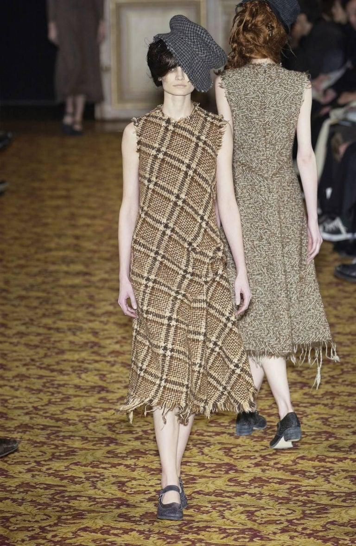 Junya Watanabe Comme des Garcons tweed runway dress, 2003   For Sale 1