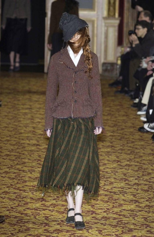 Junya Watanabe Comme des Garcons tweed runway dress, 2003   For Sale 2