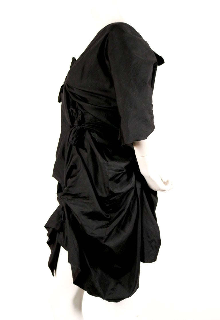 Black 2003 COMME DES GARCONS black knotted dress For Sale