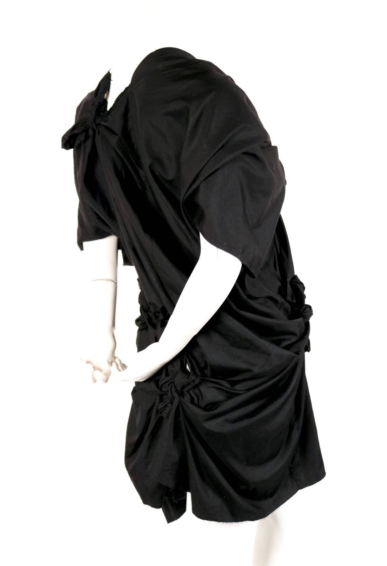 2003 COMME DES GARCONS black knotted dress In Good Condition For Sale In San Fransisco, CA