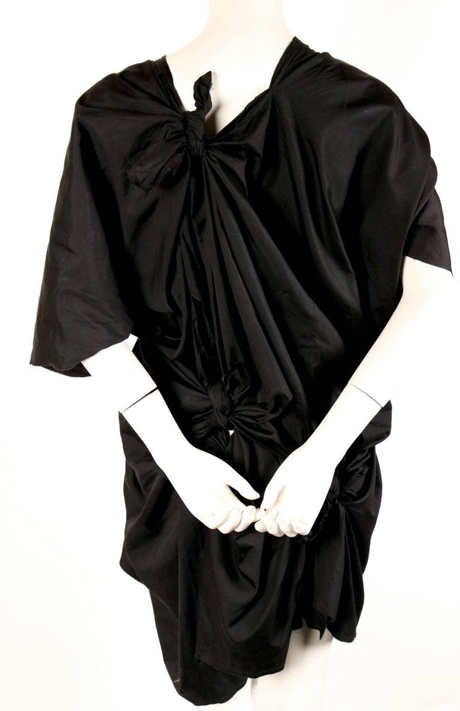 Women's or Men's 2003 COMME DES GARCONS black knotted dress For Sale