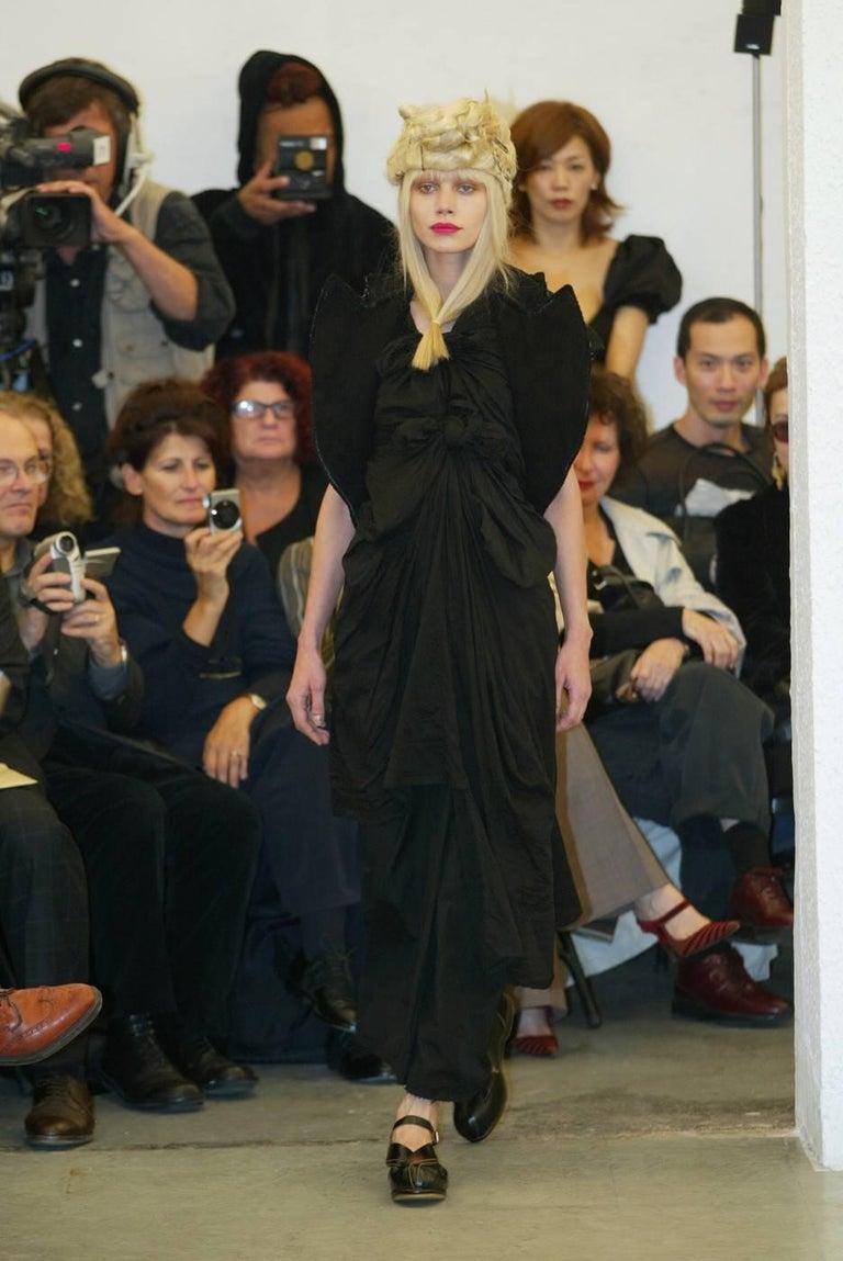 2003 COMME DES GARCONS black knotted dress For Sale 3