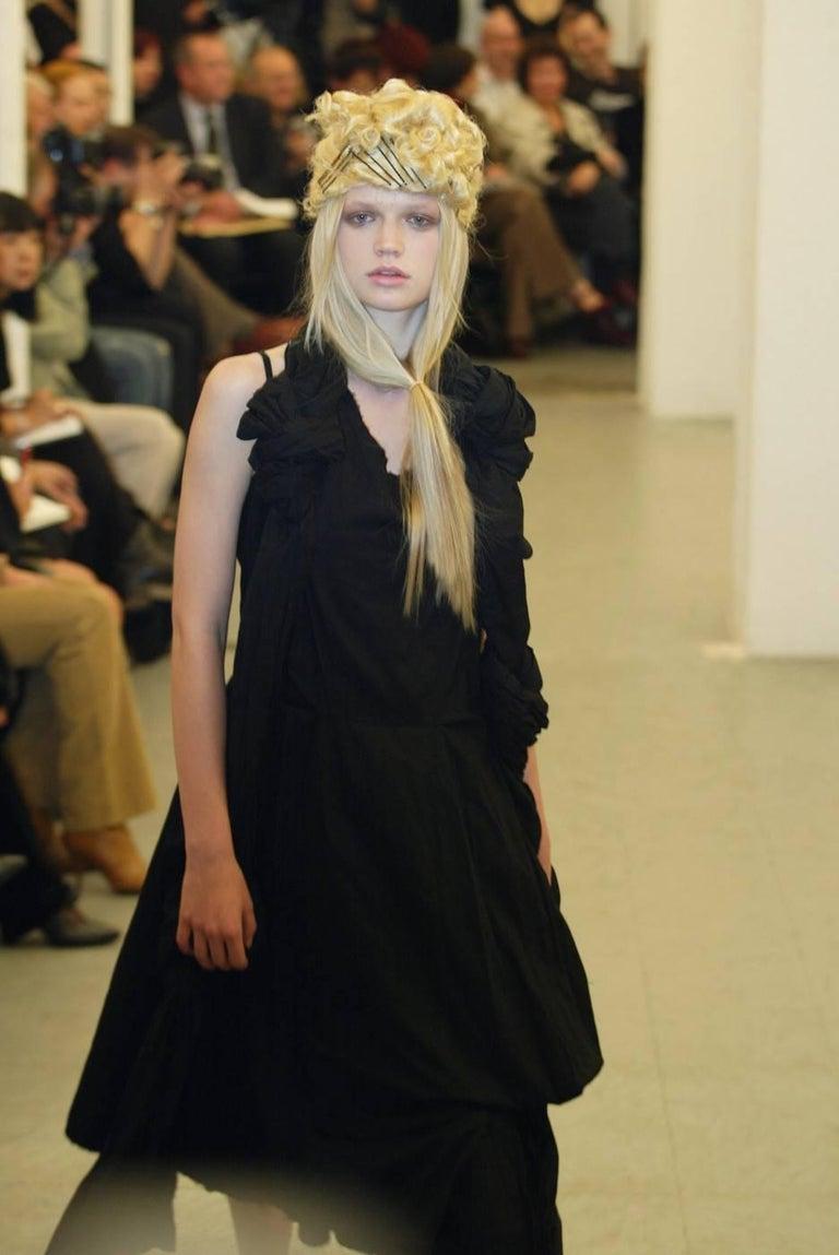 2003 COMME DES GARCONS black knotted dress For Sale 4
