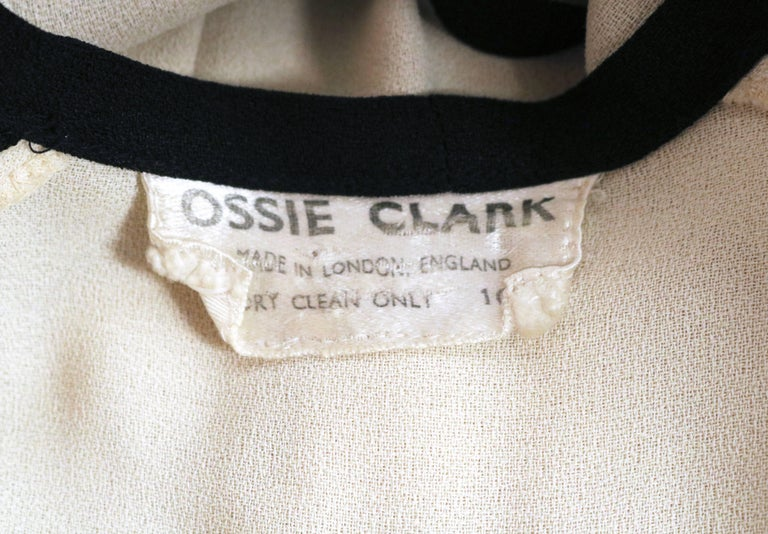 Women's or Men's very rare 1970 OSSIE CLARK for QUORUM moss crepe wrap dress For Sale