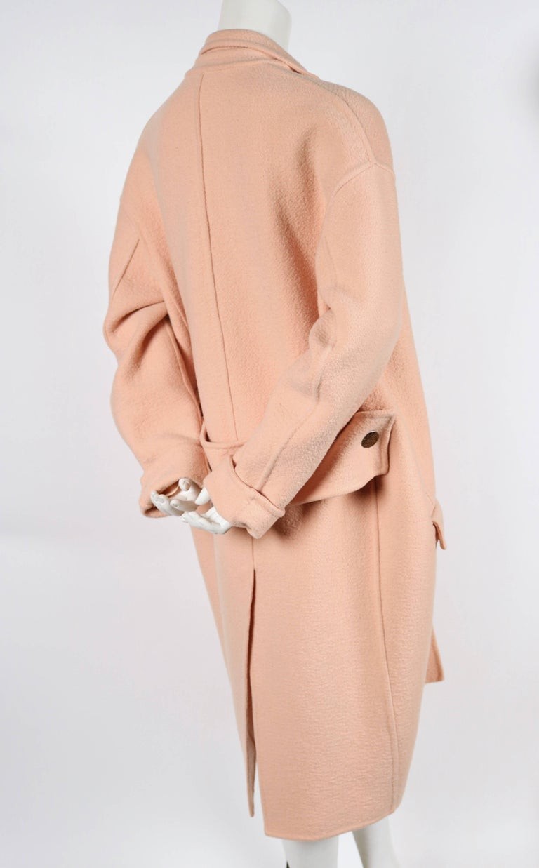 CELINE blush cashmere runway coat - 2013 2