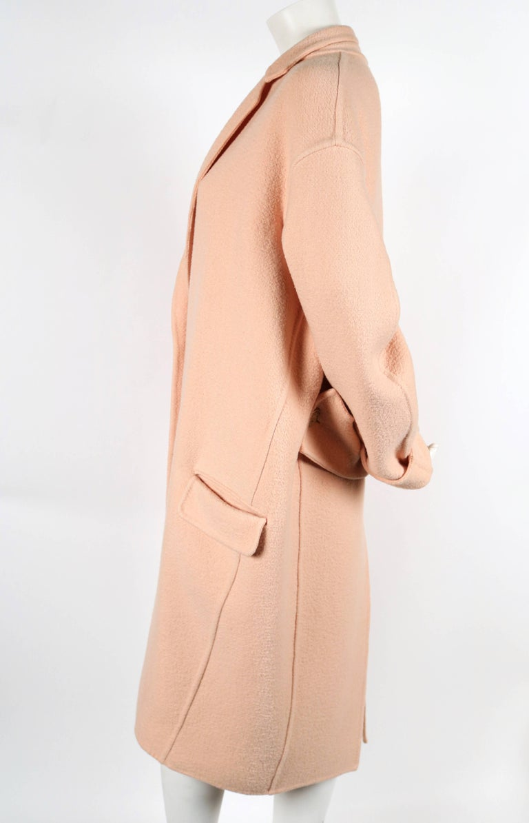CELINE blush cashmere runway coat - 2013 3