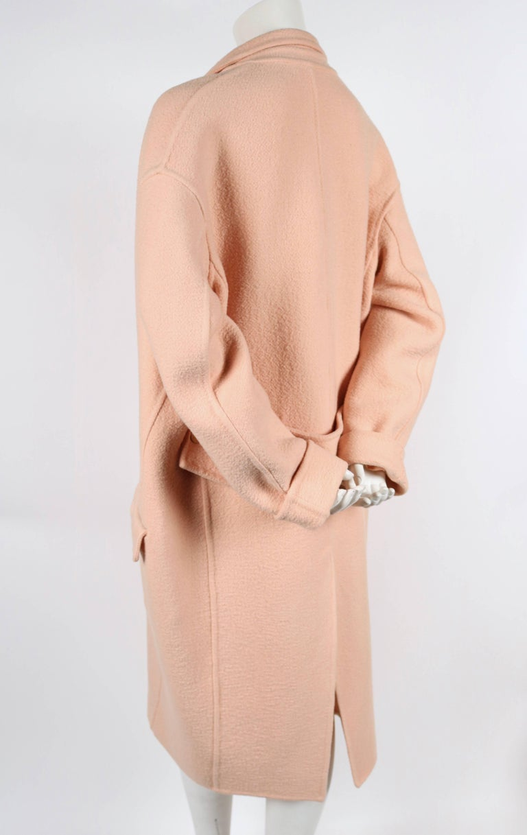 CELINE blush cashmere runway coat - 2013 4