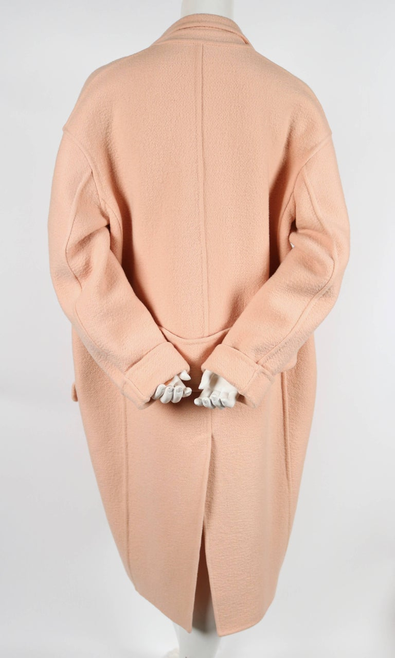 CELINE blush cashmere runway coat - 2013 5